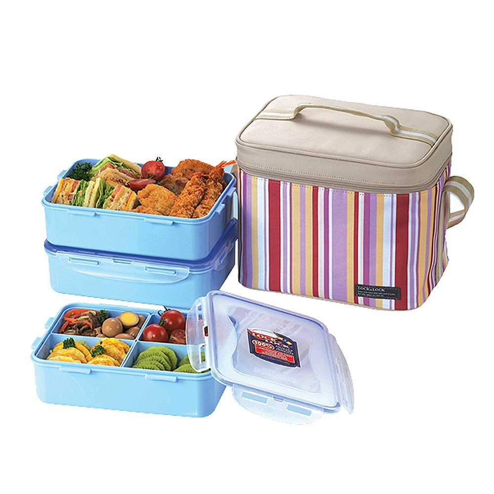 Lock & Lock Lunch Box Set With Bag