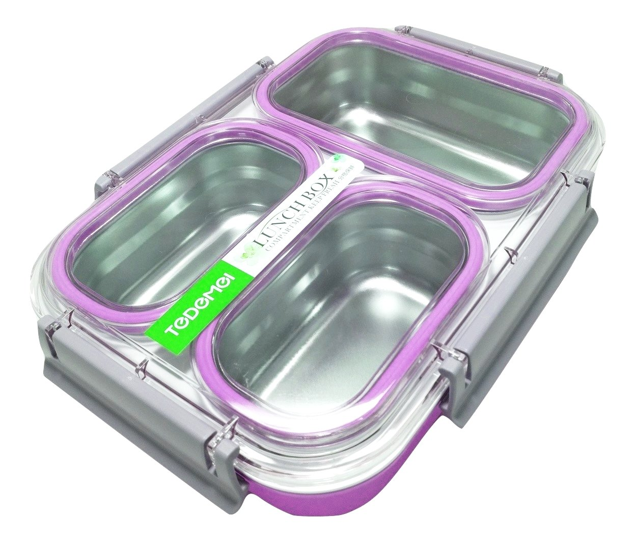 Tedemei 3 Grid Stainless Steel Lunch Box
