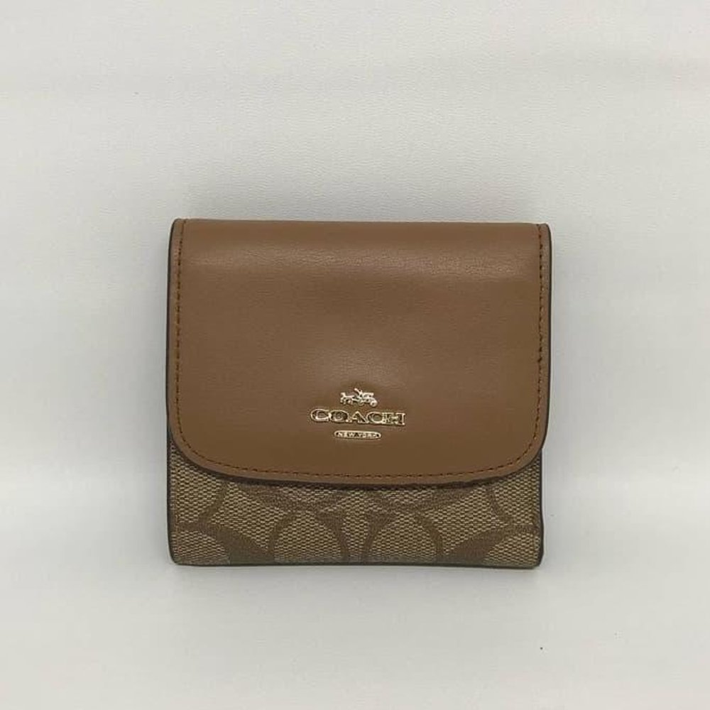 Coach PVC Leather Small Trifold Wallet