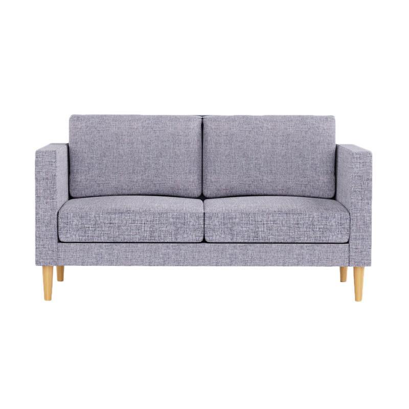 Fabelio Sofa 2 Kursi Deni Dark Grey