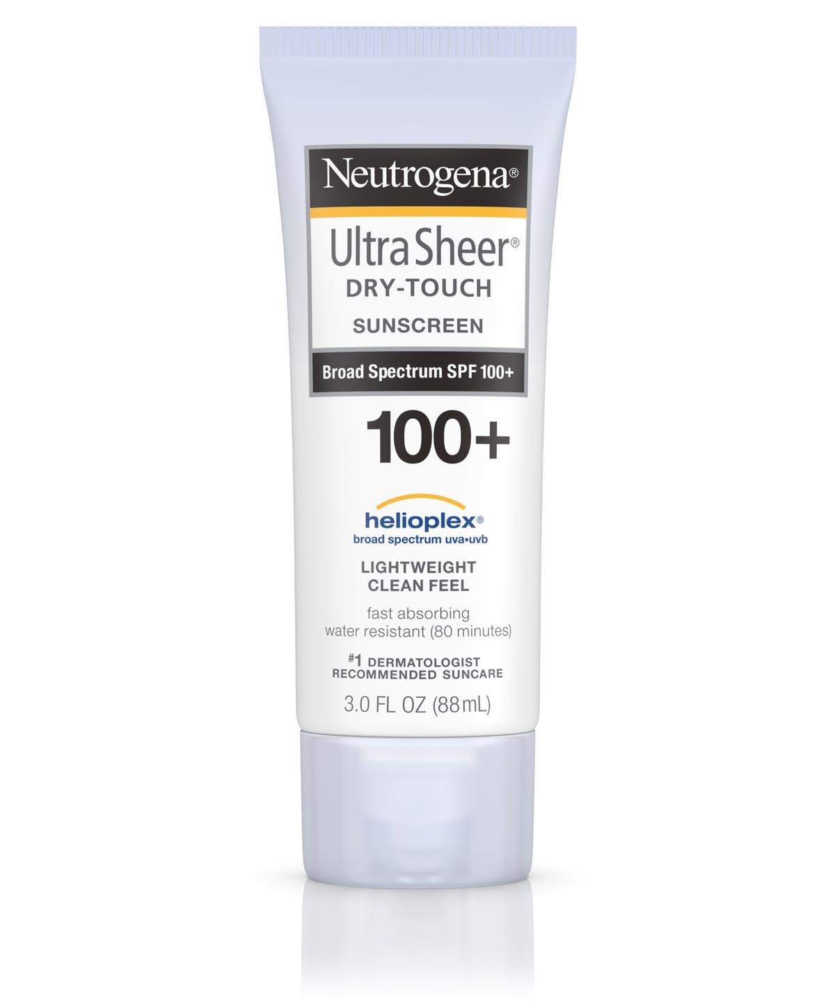 Neutrogena Ultra Sheer Dry Touch Sunscreen Broad Spectrum SPF 100+