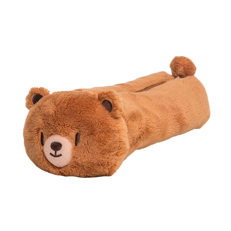 wigglo fluffy round pencil case