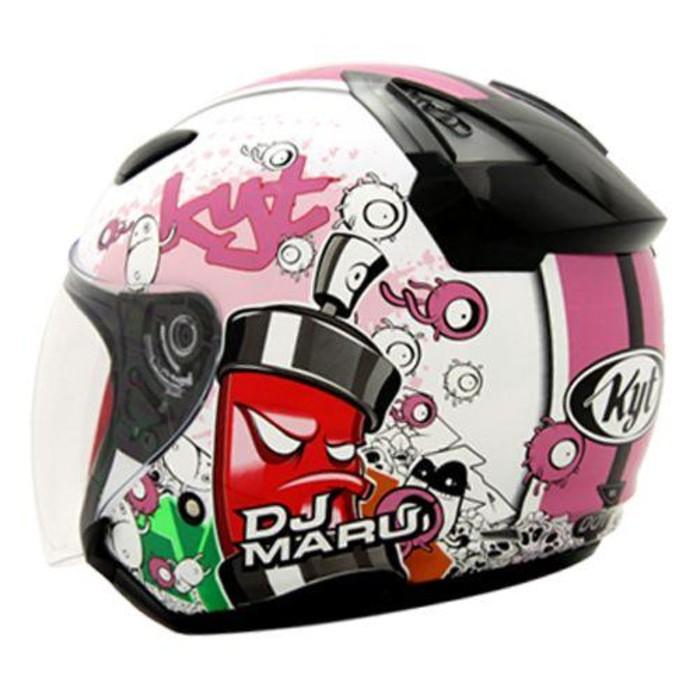 KYT DJ Maru Seri 5 White Pink
