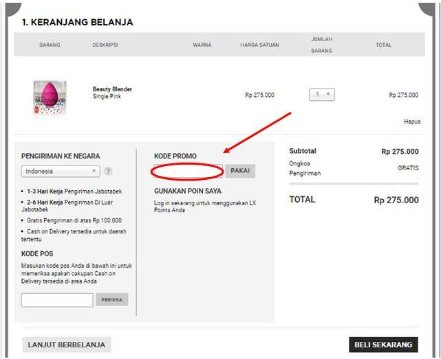 kode voucher sephora Indonesia