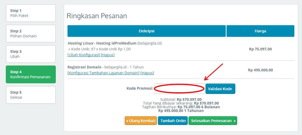 kupon IDwebhost promo khusus domain eksklusif di DiskonAjaa
