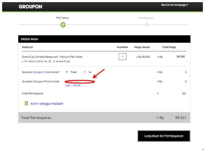 Cara Menggunakan Kode Promo Groupon