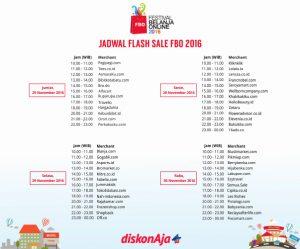 jadwal flash sale di festival belanja online
