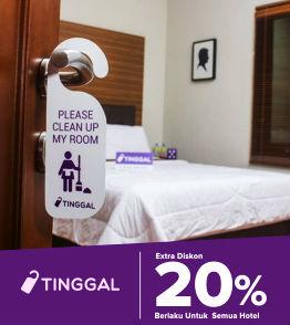 Voucher Tinggal.com 20% untuk Semua Hotel Tanpa minimum Transaksi