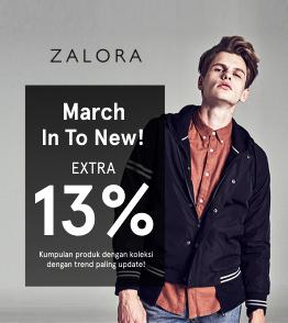 Kode Voucher Zalora Diskon 13% Off All item Selama Bulan Maret