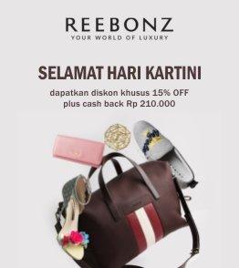 Promo Kartini Diskon 15% + Rp 210.000