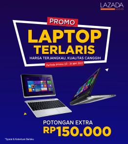 Laptop Terlaris Potongan Rp 150.000