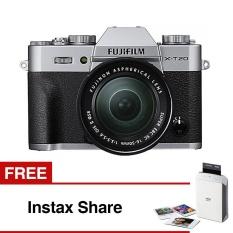 Fujifilm XT-20 Mirrorless Camera with Kit XC 16-50MM - Silver + Instax Share