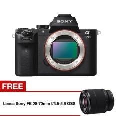 Sony Alpha ILCE a7 Mark II - Hitam + Lensa Sony FE 28-70mm f/3.5-5.6 OSS