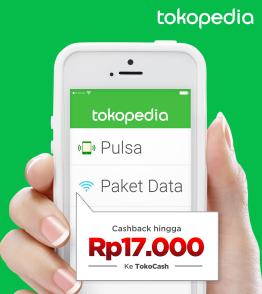 Beli Pulsa / Paket Data, Cashback Hingga Rp17.000 ke TokoCash!