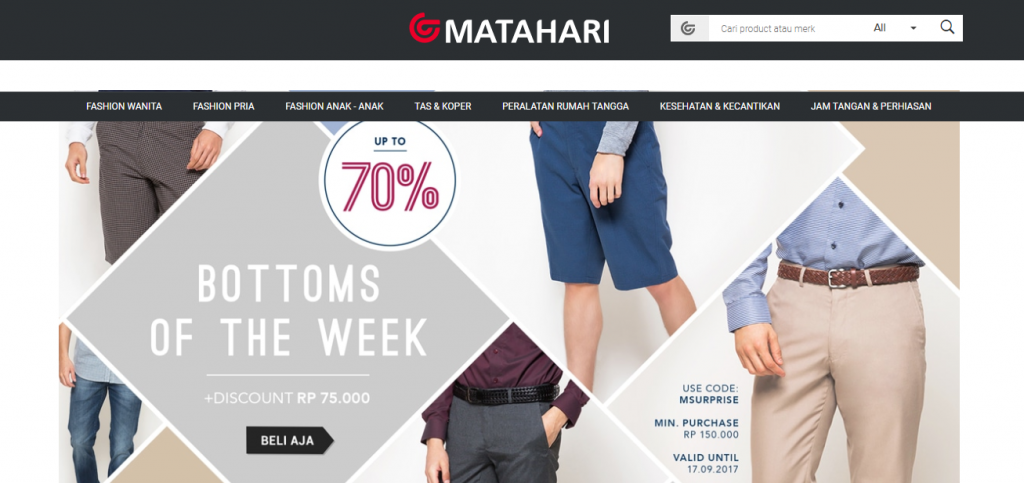 Promo Matahari Department Store