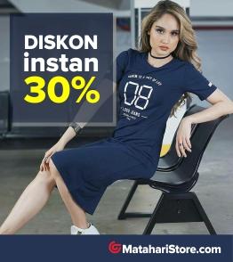 Voucher exclusive 30% untuk semua produk Fashion MatahariStore