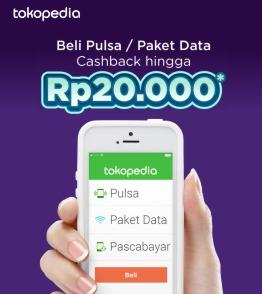 Top Up Pulsa / Paket Data Cashback hingga Rp20.000!
