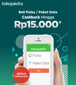 Beli Pulsa / Paket Data, Cashback hingga Rp15.000!