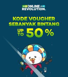 Kumpulan kode voucher terbanyak !! extra Diskon hingga 50%