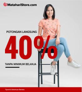 Kode voucher Mataharimall Exclusive 40% untuk Fashion matahari Store
