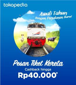 Dapatkan Tiket Kereta Tahun Baru, Cashback hingga Rp40.000!