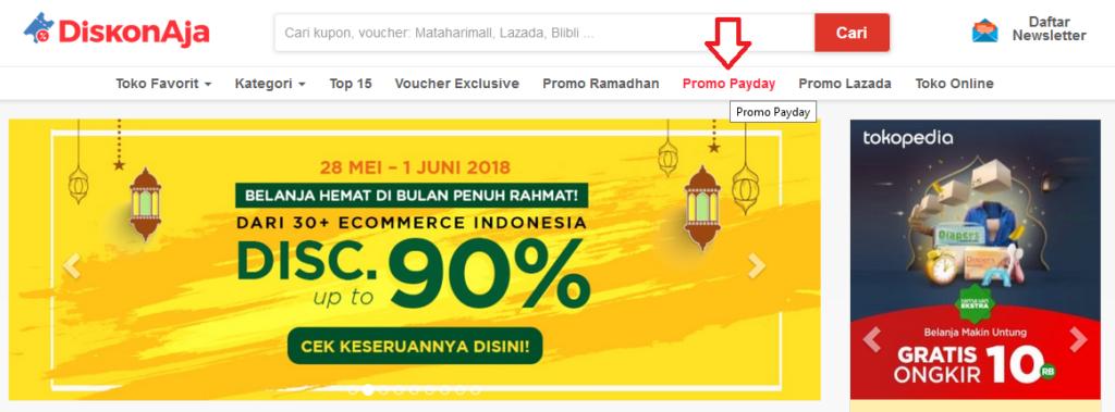 Cara Mendapatkan Kupon Payday Sale