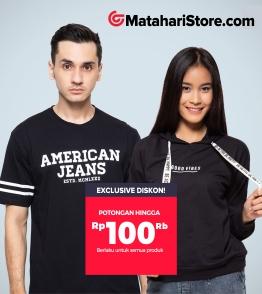 Exclusive! Promo Mataharimall diskon Rp 100.000 untuk Fashion Matahari Store