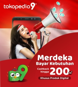 Tokopedia voucher cashback hingga Rp200.000 untuk produk Digital