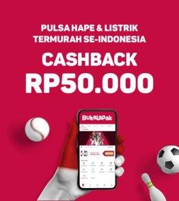 Promo Badai Pulsa Bukalapak Cashback hingga Rp 50.000