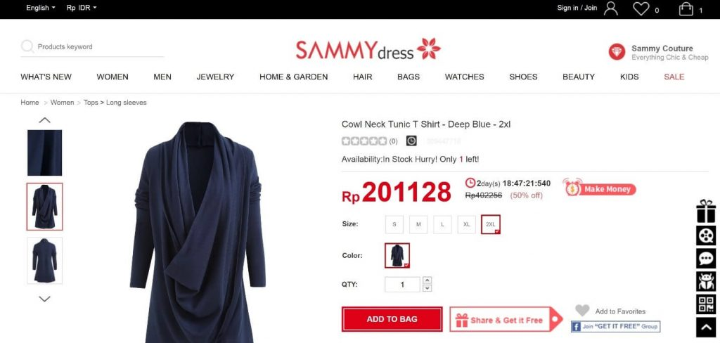 Kode Voucher Sammydress