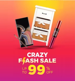 Flash sale diskon hingga 90% + 15% untuk produk pilihan terbaik