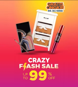 Lazada Flash sale diskon hingga 99% untuk produk pilihan terbaik