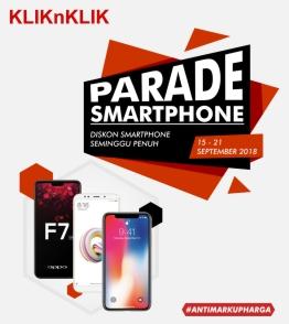 Promo Kliknklik.com Parade Smartphone diskon hingga 50%