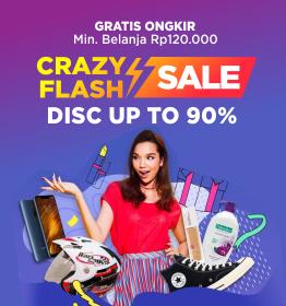 Lazada Flash Sale Diskon Hingga 99% + Extra 15% ( Hanya hari ini )